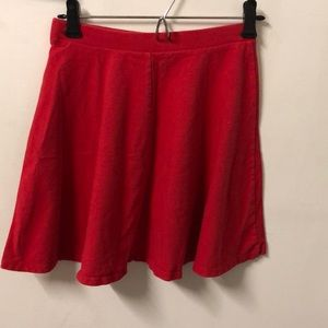 Solid red skirt